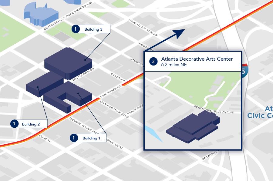 Americasmart Atlanta Map.Locations International Market Centers